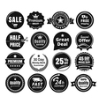 Sixteen Scalable Vintage Badges vector image vector image