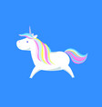 sweet unicorn from legend mysterious fairy horse vector image