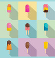 sweetie icons set flat style vector image vector image