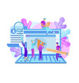 training young people gain knowledge from internet vector image vector image