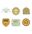 Typographic Bicycle Themed Label Design Set - Bike vector image