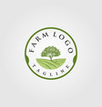 vintage farm with tree logo designs vector image vector image