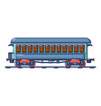 vintage passenger wagon icon cartoon style vector image vector image