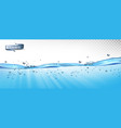 water waves with air bubbles and sunbeams on vector image vector image