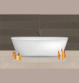 white bathtub concept background realistic style vector image