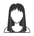 Young woman profile in black and white vector image vector image