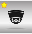 surveillance camera black icon button logo symbol vector image