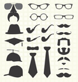 Hats and Other Fashion Elements vector image