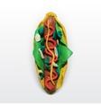 hotdog vector image