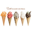 hand drawn sweet ice cream vector image