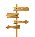 Wooden direction signpost way wood vector image