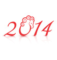 2014 new year vector image