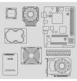 Computer parts vector image