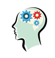 human brain thinking process vector image