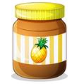 a bottle pineapple jam vector image