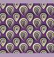 abstract pattern with peacock feathers on violet vector image