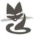 angry gray cat graphic image for logo vector image