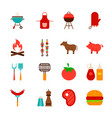 barbecue food objects vector image vector image