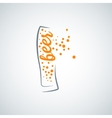 beer glass splash background vector image vector image