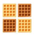 belgian waffle vector image vector image
