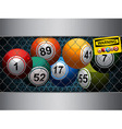 Bingo cage with warning sign vector image vector image