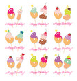 birthday card set festive sweet numbers from 61 vector image vector image