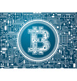 bitcoin digital currency background vector image
