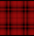 black and red tartan plaid scottish pattern vector image vector image
