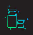 bottles icon design vector image vector image