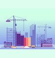 building process unfinished buildings and vector image