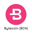 bytecoin bcn crypto coin i vector image vector image