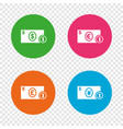 cash money signs dollar euro and pound icons vector image