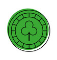 casino chips with clover vector image vector image