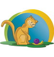 cat with snail vector image vector image