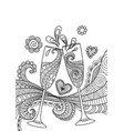 champagne glasses toasting vector image vector image