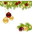 christmas corner 1611 02 vector image vector image