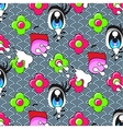 Cute cartoon seamless pattern vector image