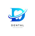 dental or dentist logo symbol clean tooth symbol vector image