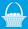 easter basket icon white vector image vector image