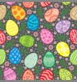 easter pattern seamless with decorative egg vector image vector image