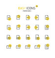 easy icons 15d papers vector image