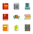 education and science icons set flat style vector image vector image