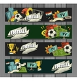 Football sports elements vector image vector image