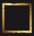 gold frame beautiful simple golden design vintage vector image