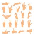 hands in various gestures flat design modern vector image vector image