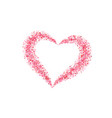 heart confetti isolated white background fall red vector image vector image