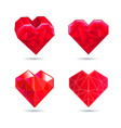 hearts set color icon red heart in the vector image vector image