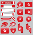 Hong Kong flags vector image vector image