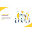know your customer website landing page vector image vector image