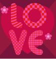 love envelope vector image vector image